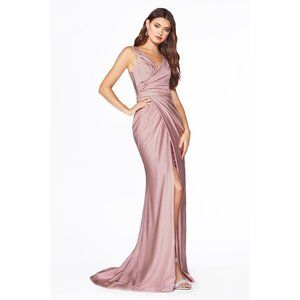 C81730 Stretch Jersey Gown w/Ruched Bodice